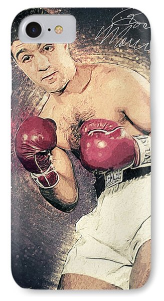 Rocky Marciano IPhone Case by Taylan Apukovska