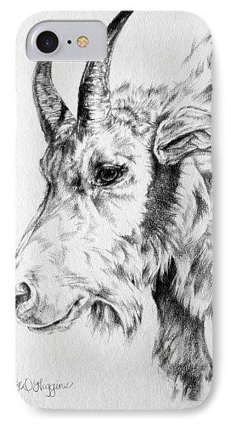 Rocky Mountain Goat IPhone Case by Derrick Higgins