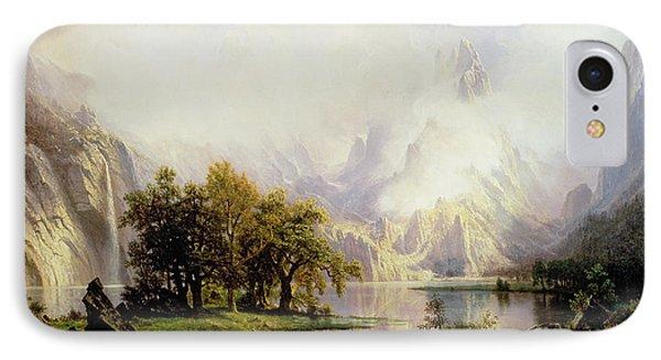 Rocky Mountain Landscape IPhone Case by Albert Bierstadt