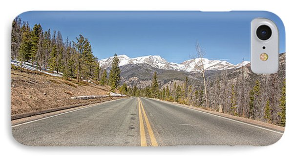 IPhone Case featuring the photograph Rocky Mountain Road Heading Towards Estes Park, Co by Peter Ciro