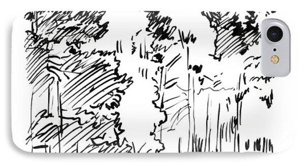 Rocky Mountain Sketch IPhone Case