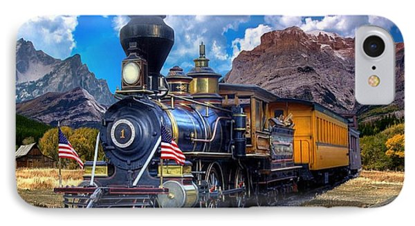 Rocky Mountain Train IPhone Case by Ron Chambers
