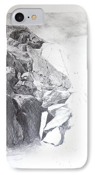 Rocky Outcrop In Snowdonia. Phone Case by Harry Robertson