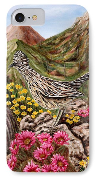 IPhone Case featuring the painting Rocky Road Runner by Judy Filarecki