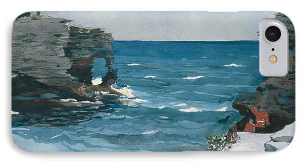 Rocky Shore, Bermuda IPhone Case by Winslow Homer