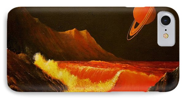 Rocky Shores On A Planetary Moon IPhone Case by Suresh Chakravarthy
