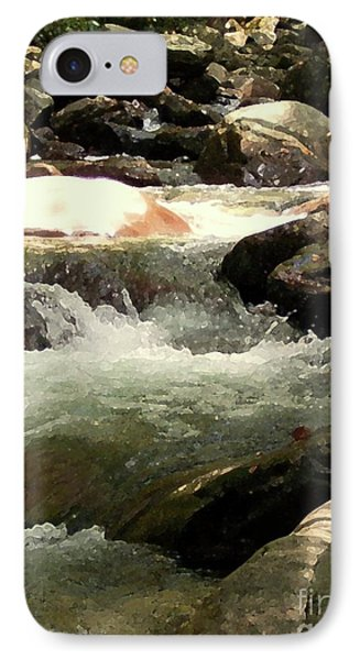 IPhone Case featuring the mixed media Rocky Stream 4 by Desiree Paquette