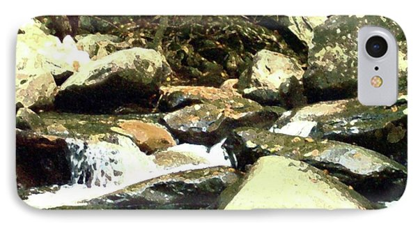 IPhone Case featuring the mixed media Rocky Stream 5 by Desiree Paquette