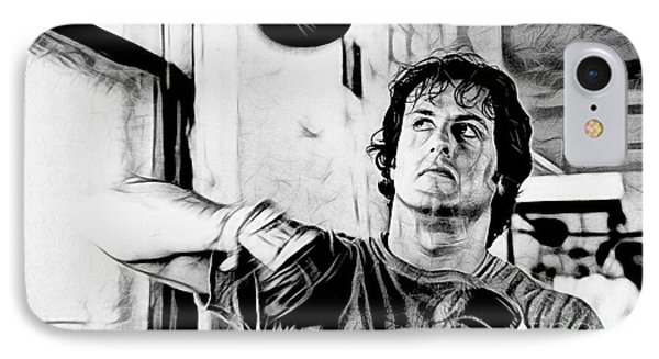 Rocky Sylvester Stallone Collection IPhone Case by Marvin Blaine