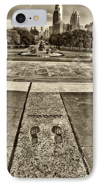 Rocky's Footprints IPhone Case by Jack Paolini