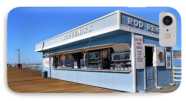 IPhone Case featuring the photograph Rod Rental At The Pismo Beach Pier by Floyd Snyder