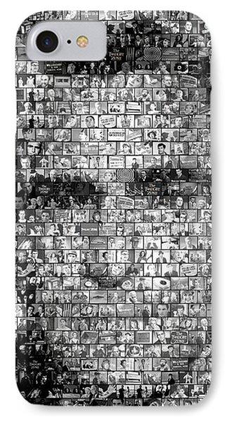 Rod Serling Twilight Zone Mosaic IPhone Case by Paul Van Scott