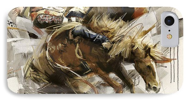 Rodeo 10 IPhone Case by Maryam Mughal