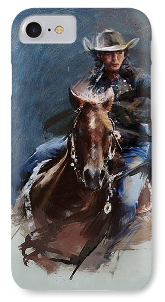 Rodeo 34 IPhone Case by Maryam Mughal