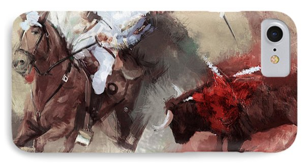 Rodeo 43b IPhone Case by Maryam Mughal
