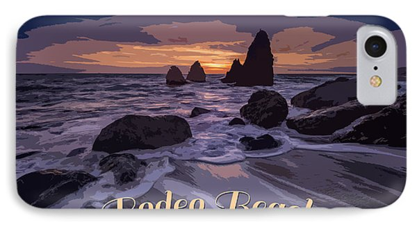 Rodeo Beach Vintage Tourism Poster IPhone Case by Rick Berk