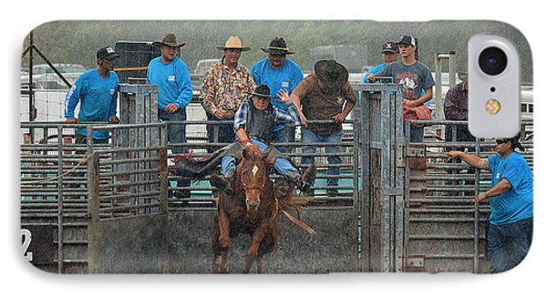 IPhone Case featuring the photograph Rodeo Bronco by Lori Seaman