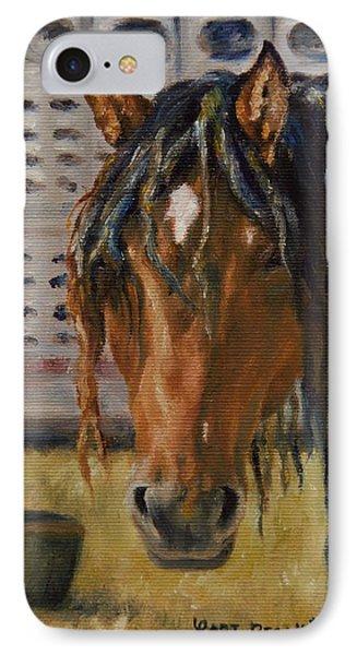 Rodeo Horse IPhone Case by Lori Brackett