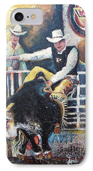 Rodeo Ride IPhone Case by Linda Shackelford