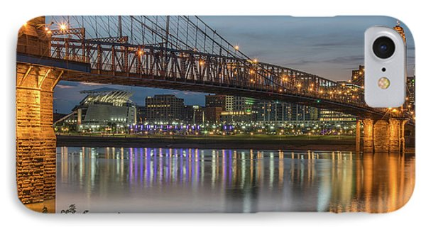 Roebling At Dusk IPhone Case by Brad Monahan