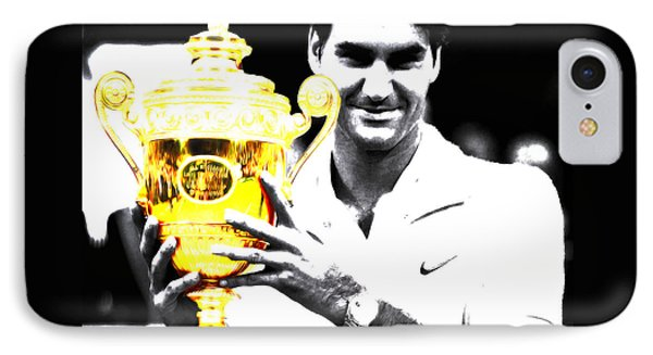 Roger Federer IPhone Case by Brian Reaves