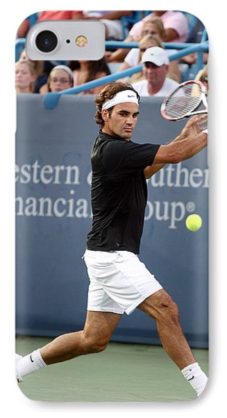 Roger Federer IPhone Case by Keith Allen