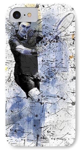 Roger Federer IPhone Case by Marlene Watson