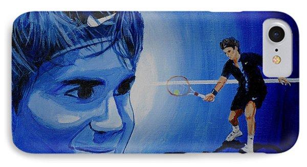 Roger Federer IPhone Case by Quwatha Valentine