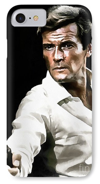 Roger Moore IPhone Case by Sergey Lukashin