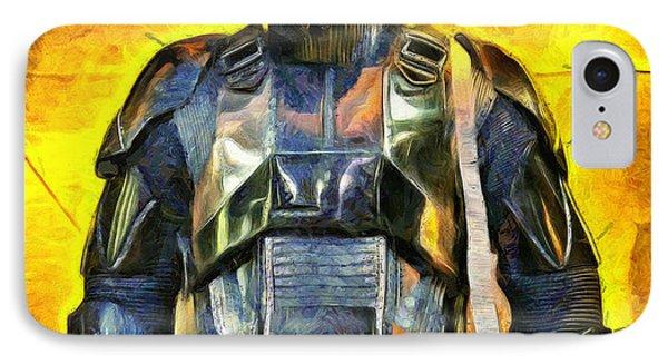 Rogue One Death Trooper Observing - Pa IPhone Case by Leonardo Digenio