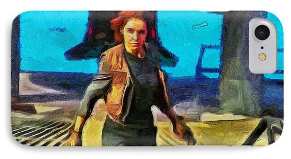 Rogue One Jyn Erso And Weapon - Da IPhone Case by Leonardo Digenio