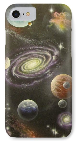 Rogue Planets With Moons IPhone Case by Sam Del Russi