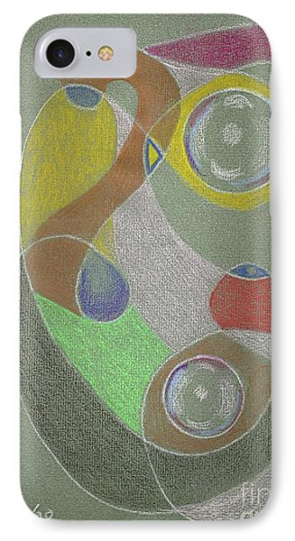 IPhone Case featuring the drawing Roley Poley Vertical by Rod Ismay