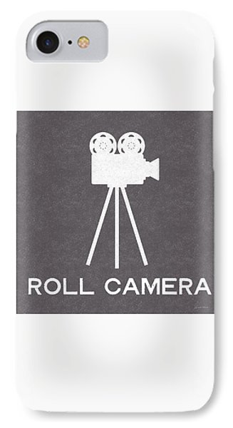 Roll Camera- Art By Linda Woods IPhone Case by Linda Woods