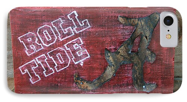 Roll Tide - Large Phone Case by Racquel Morgan