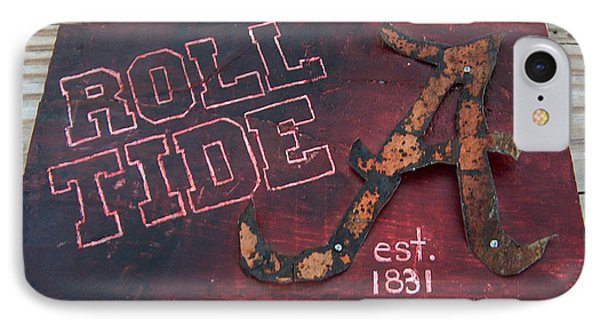 Roll Tide Alabama IPhone Case by Racquel Morgan