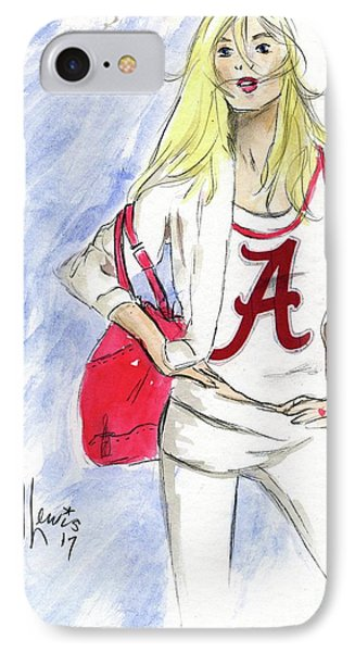 IPhone Case featuring the painting Roll Tide by P J Lewis