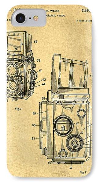 Rolleiflex Medium Format Twin Lens Reflex Tlr Patent IPhone Case
