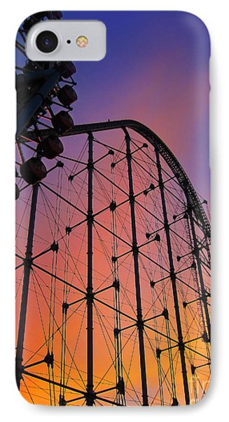 Roller Coaster At Sunset IPhone Case by Eena Bo