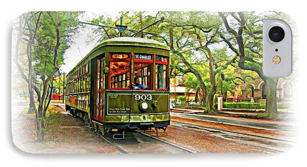 Rollin' Thru New Orleans - Vignette IPhone Case by Steve Harrington