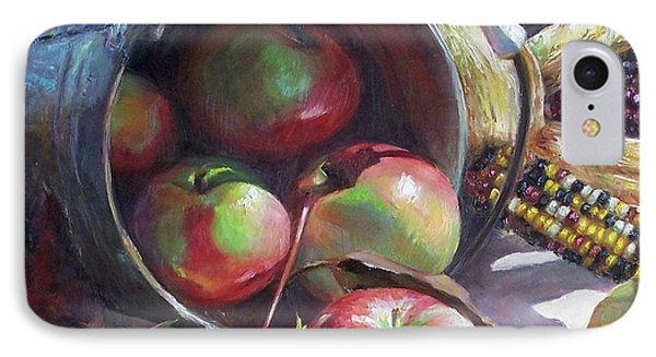 Rolling Apples Phone Case by Donna Munsch
