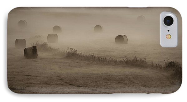 Rolling Field Of Hay Bales IPhone Case