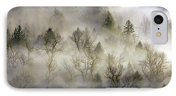 Rolling Fog In Sandy River Valley Phone Case by David Gn
