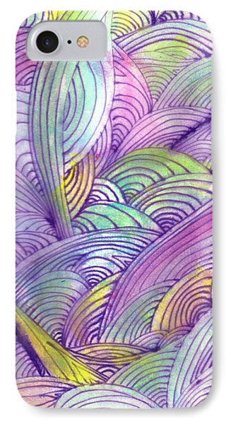 Rolling Patterns In Pastel Phone Case by Wayne Potrafka