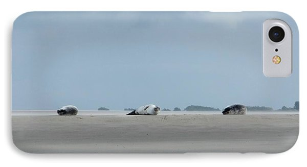 IPhone Case featuring the photograph Rolling Seals by Marc Philippe Joly