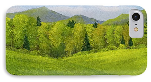 IPhone Case featuring the painting Rolling Spring Pastures  by Frank Wilson