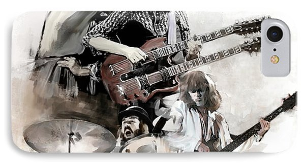 Rolling Thunder Led Zeppelin IPhone Case by Iconic Images Art Gallery David Pucciarelli