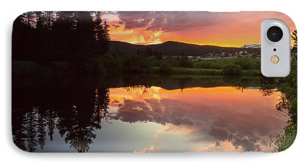 Rollinsville Sunset Reflections IPhone Case