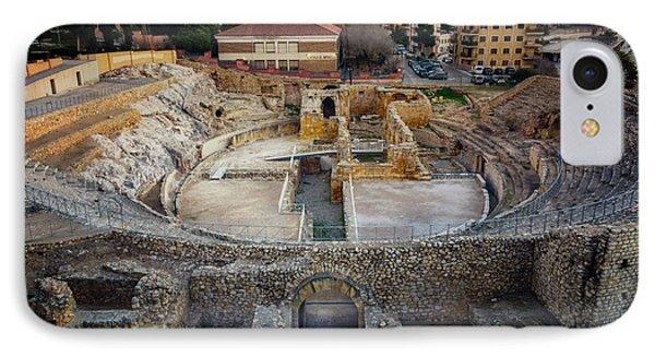 Roman Amphitheatre Tarragona Spain IPhone Case by Joan Carroll