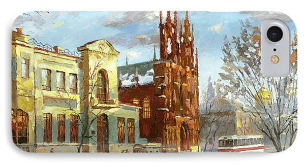 IPhone Case featuring the painting Roman Catholic Church by Dmitry Spiros